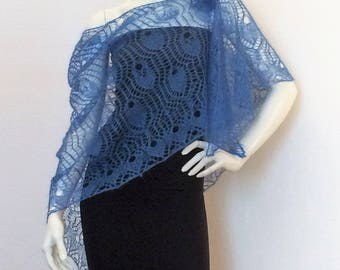 """Zéphyr"" knitted lace shawl"
