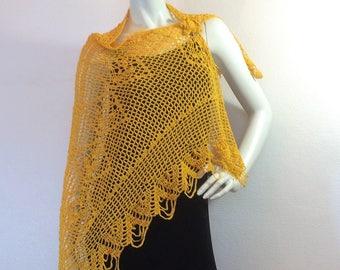 """""""Sun"""" crochet lace shawl"""