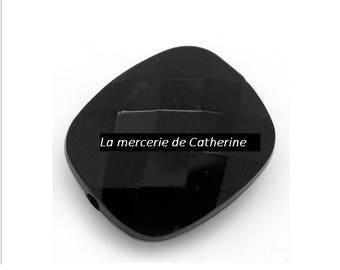 Set of 5 black acrylic beads