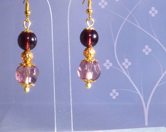 Crystal - purple and gold balls