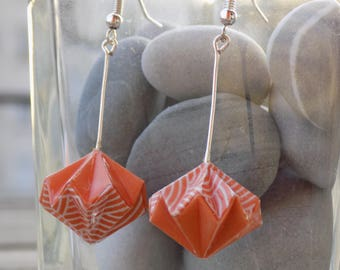 Origami diamond earrings