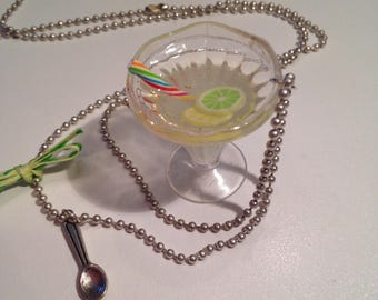 "Necklace ""lemon rum cocktail"""