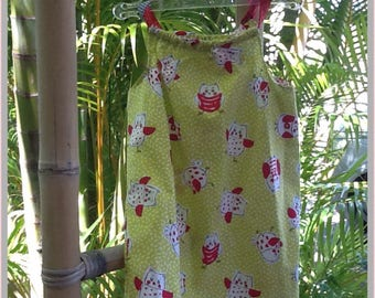 Little dress OWL pattern