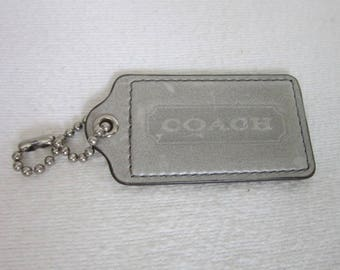 Vintage Designer Coach Purse or Bag Leather Tag or Key Chain
