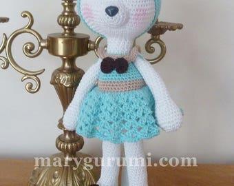 White bear, Amigurumi crochet plush