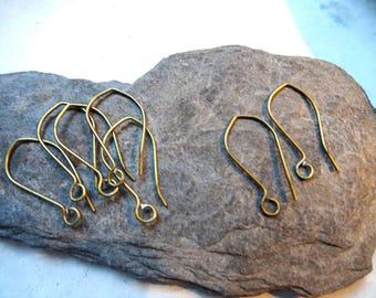 large 3paires (6 pieces) 2.5 cm dangle hoop to add a charm or a stone bronze