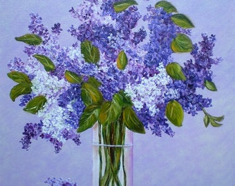 "Painting on canvas ""Lilac"""