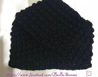 Black women turban crochet Beanie
