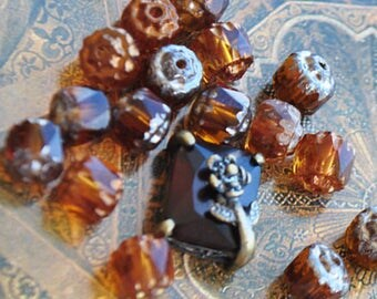 Antique and cameo Czech beads Czech spacer