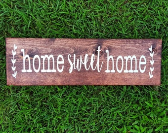 Home Sweet Home Sign | Home Sweet Home Wood Sign | Farmhouse Sign | Farmhouse Style | Farmhouse Decor | Custom Wood Sign | Housewarming Gift