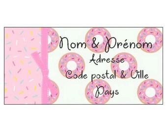 Donut theme address label