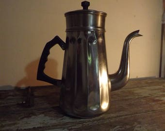 French Coffee Pot with Filter made by Alsa in Chrome/Copper.