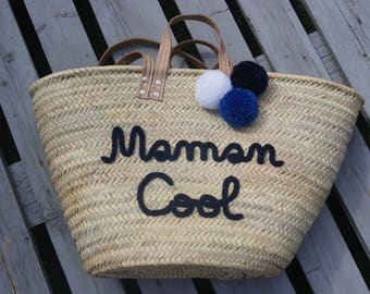 Personalized tote bag will in knitting with tassels