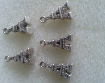 may challenges) - 5 charms eiffel tower Paris1, 5 cm x 1 cm