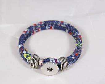 Beautiful textile cord bracelet, custom mixed size