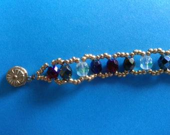 Blue and green multicolor bracelet
