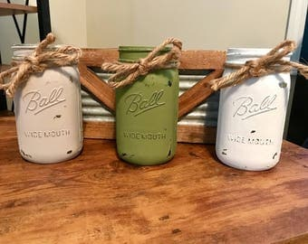 Decorative Mason Jars (Set Of 3)