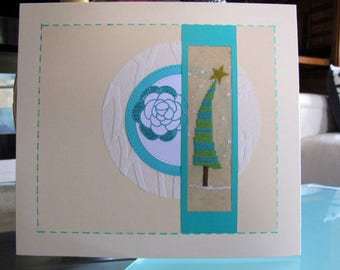 Christmas and flower tree painting