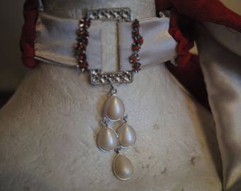 Scarf-double velvet satin, creating unique jewelry