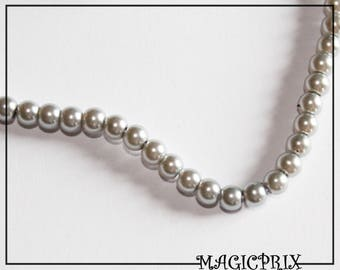 SET of 85 glass silver Ø 10 mm m2412 beads