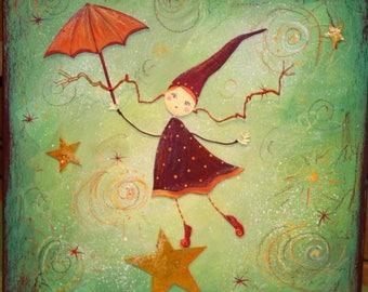 "Original painting: ""Acrobat of the stars"""