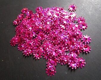 set of confetti flower Fuchsia pink