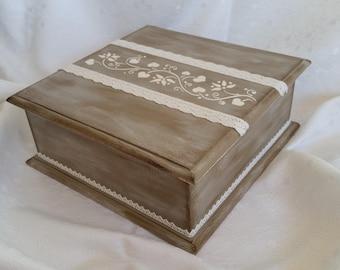 Handmade unique wooden jewelry box