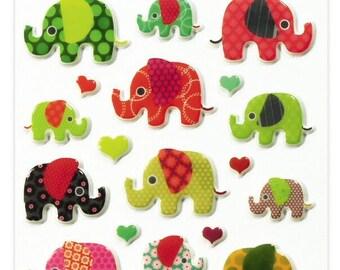 """Stickers Cooky relief """"Eléphants"""" x 26 - MAILDOR - Ref 560372"""