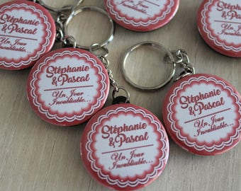 personalized for wedding, christening or other gift keychain