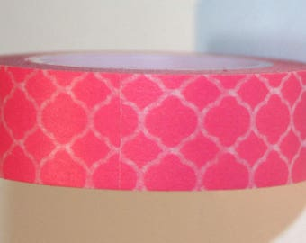 Masking (washi) tape - pink with patterns