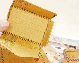 Block Notes cards Message envelope Paris