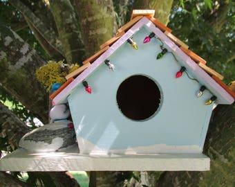 Bird Snowman Cabin