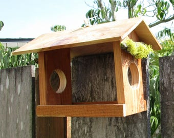 Small Cedar Bird Feeder