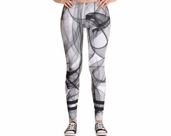 Up In Smoke Yoga Leggings, Women's Pants for Workouts and Running