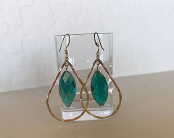 Custom Made Emerald Crystal Earrings