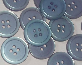 set of 5 purple round button 16 mm sewing scrapbooking