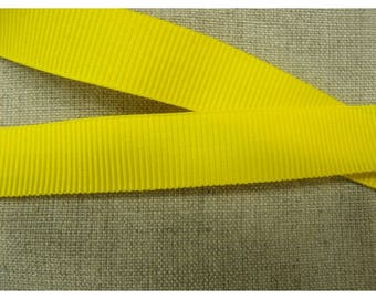 Ribbon grosgrain decorative - 15 mm - yellow