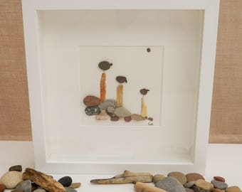 Pebble/Stone Art - 'The Lookouts'