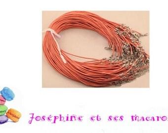 ORANGE 1 necklace 46 cm faux leather