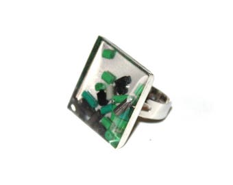 Recycled wires and resin ring