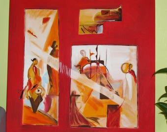 Oriental inspired painting Impressionism 60cmX60cm