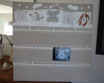 """Decorative memory for children's rooms: """"my animal friends"""" theme"""