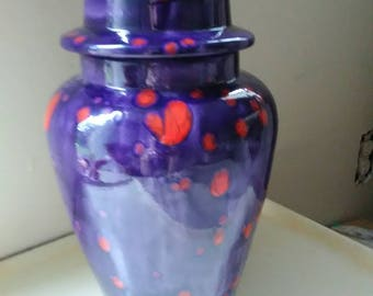 Purple/Orange vase or urn