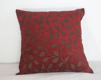 Cushion covers 50 * 50 Burgundy leaf fabric
