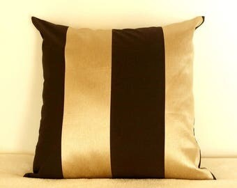 Cushion covers 50 * 50 gold and Brown taffeta fabric
