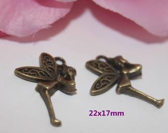 10 pendant, Bronze fairy 22x17mm - SK02667