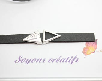 1 bead from Triangle silver high quality European 16x13mm