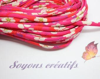 50cm cord Liberty Of London Mitsi Fuchsia - creating jewelry-