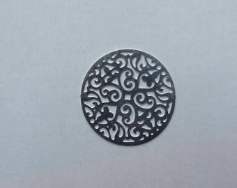 23 mm flower filigree disc