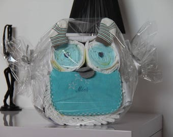 In the form of OWL diaper cake